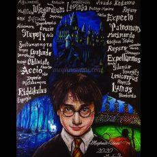 Harry Potter and the Place I Long to Visit | Painting on Black Chart