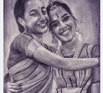 Happy Birthday Kameshweri Akka !! Pencil Sketch Portrait