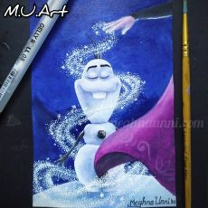 Once Upon a Snowman 2020 Poster Painting