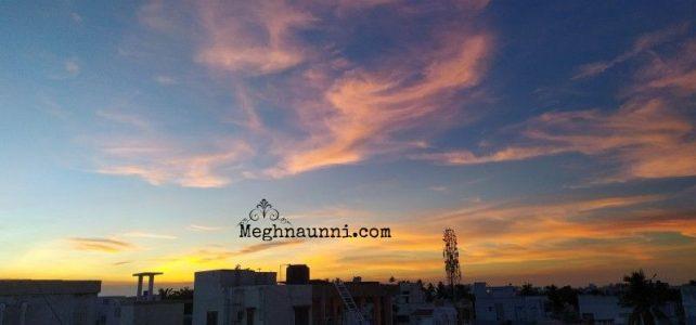 Sky on Fire | Evening Sky Photos from my Terrace