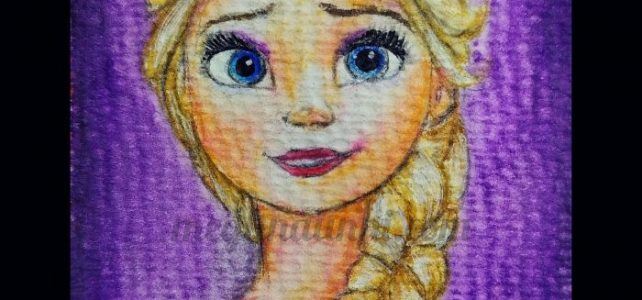 Disney Princess 12 : Elsa from Frozen Painting