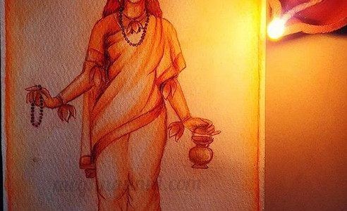 Navaratri Day 2 | Maa Brahmacharini Devi Painting