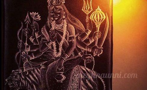 Navaratri Day 3 | Maa Chandraghanta Devi Painting
