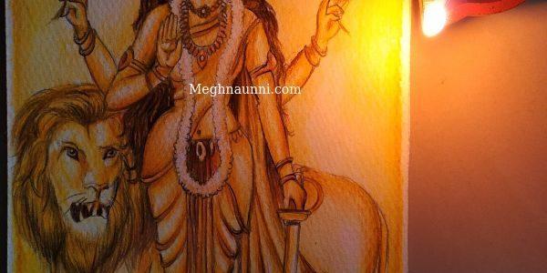 Navaratri Day 6 | Maa Kātyāyani Devi Painting