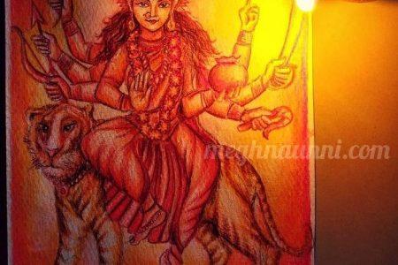 Navaratri Day 4 | Maa Kushmanda Devi Painting