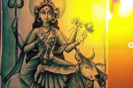 Navaratri Day 8| Maa Mahagauri Devi Painting
