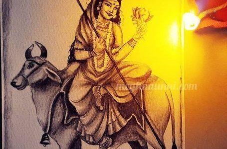 Navaratri Day 1 | Maa Shailaputri Devi Painting