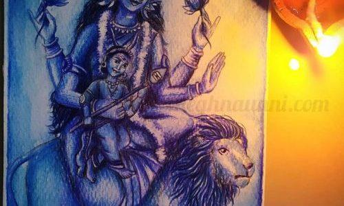 Navaratri Day 5 | Maa Skandamata Devi Painting