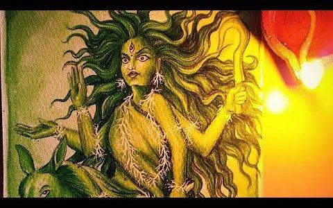 Devi Kalaratri Painting Process Video | Navaratri Series – Art by Meghna