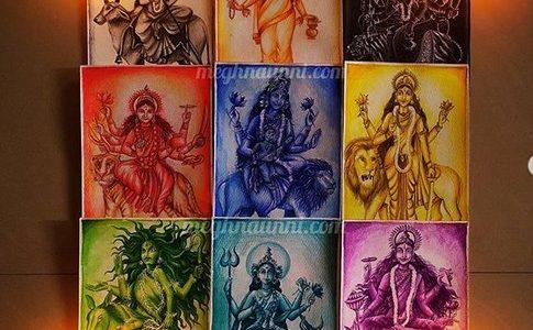 """Navadurgas"" Series 2020 Paintings Completed | Navaratri Series"