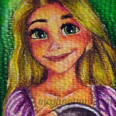 Painting RAPUNZEL from Disney's TANGLED (2010) | Making Video