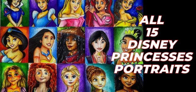 All 15 Disney Princesses in One Sheet! Close-up Look Video