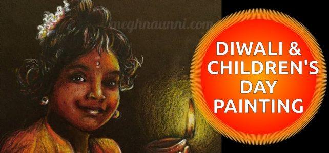 Baby Bhairavi Venkatesan Akka Portrait Painting | Art by Meghna