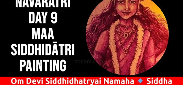 Devi Siddhidātri Water Color Painting Video