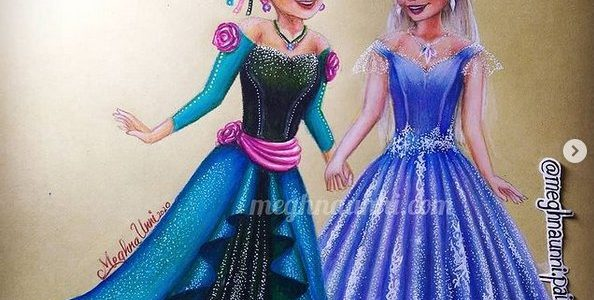 Celebrating One year of Frozen 2 | Elsa & Anna New Dresses Painting