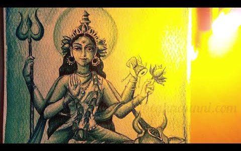 Goddess Mahagauri Painting Process Video | Art by Meghna