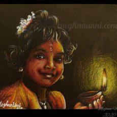 Happy Children's Day-Diwali 2020! Baby Bhairavi Venkatesan Painting