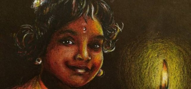 Happy Children's Day-Diwali 2020! Baby Bhairavi Venkatesan Painting