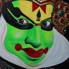 Kathakali Acrylic Painting   Close-up Video of the Painting