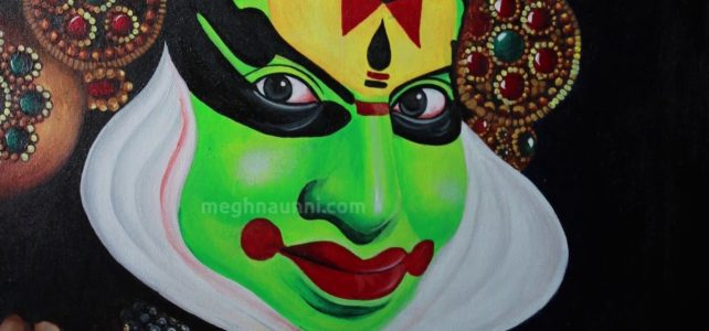 Kathakali Acrylic Painting | Close-up Video of the Painting