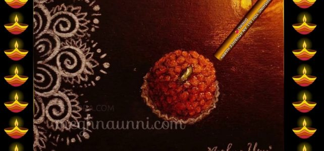 My DIWALI 2020 Painting | Motichur Laddoo | Don't Burst Crackers this Diwali!