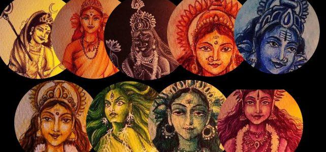 Navadurga Paintings | 9 Devi Paintings Video | Art by Meghna