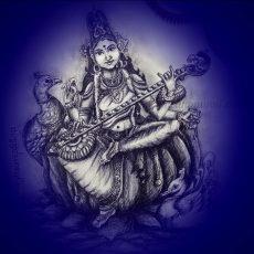 Saraswati Devi Pencil Shading Video   Art by Meghna