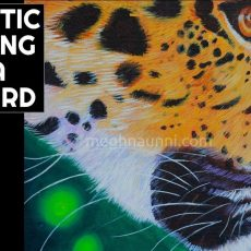 Realistic Painting of a Leopard Close-up Video