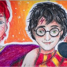 Golden Trio from the Harry Potter | Bookmark Painting