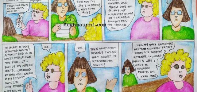Class 11 Economics | Costs & Revenue Comic Strip