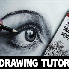 Draw an Eye in 30 mins | Simple Eye Tutorial Pencil Shading