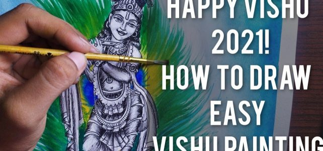 How to Draw Simple Vishu Painting | Art Tutorial
