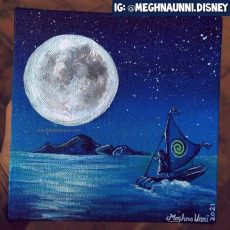 Moana is paying a visit to Te Fiti! Acrylic Painting