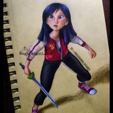 Mulan from Wreck it Ralph Princesses Painting