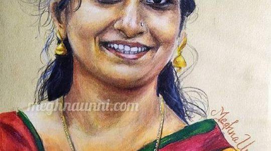 Padmavathi Ma'am Portrait Painting