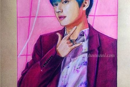 V from BTS | Drawing Kim Tae-hyung Portrait