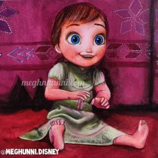 Baby Anna Painting   Art by Meghna