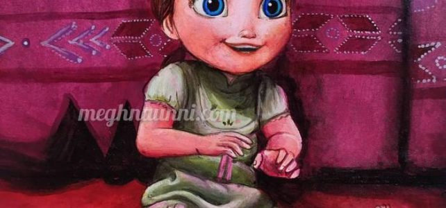 Baby Anna Painting | Art by Meghna