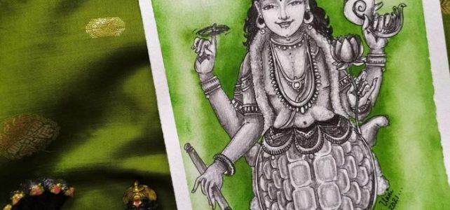 Kurma Avatara Painting | Dasavataram Series : 2
