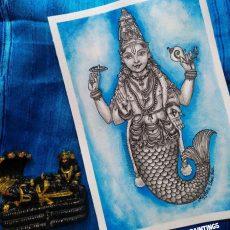 Matsya Avatara Painting   Dasavataram Series : 1