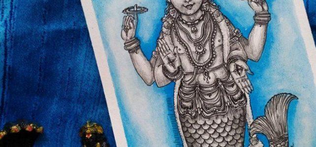Matsya Avatara Painting | Dasavataram Series : 1
