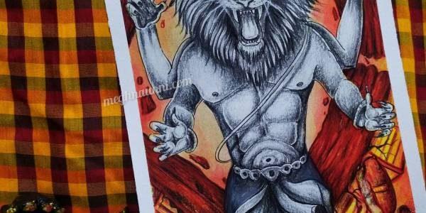 Narasimha Avatar Painting | Dasavataram Series : 4