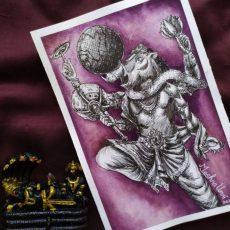 Varaha Avatar Painting   Dasavataram Series : 3