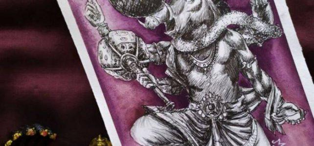 Varaha Avatar Painting | Dasavataram Series : 3