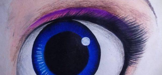 Drawing Elsa's Eye from Frozen | Short Video