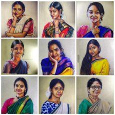 SDN Kool Kidz Series Paintings Collage