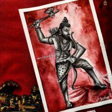 Parasurama Avatar Painting   Dasavataram Series : 6