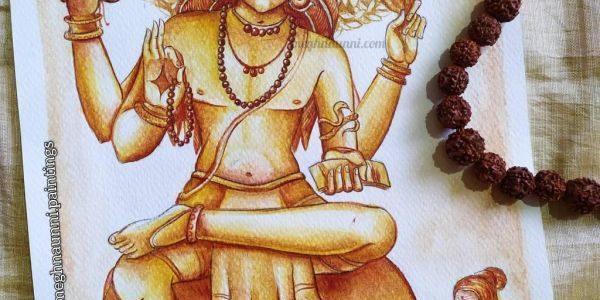 Parama Guru Dakshinamurthy Swami Painting