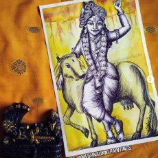 Sri Krishna Avatar Painting | Dasavataram Series: 9