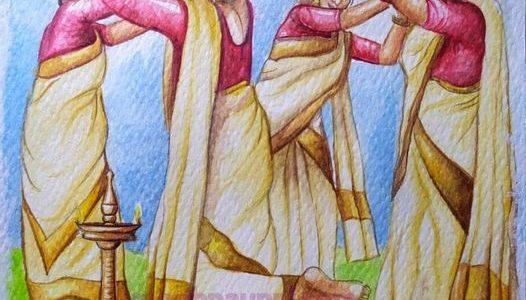 Onam 2021 Wishes to everyone | Thiruthirakali Watercolor Painting